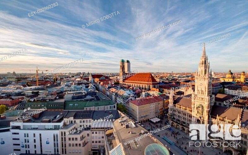 Stock Photo: Aerial view of München.