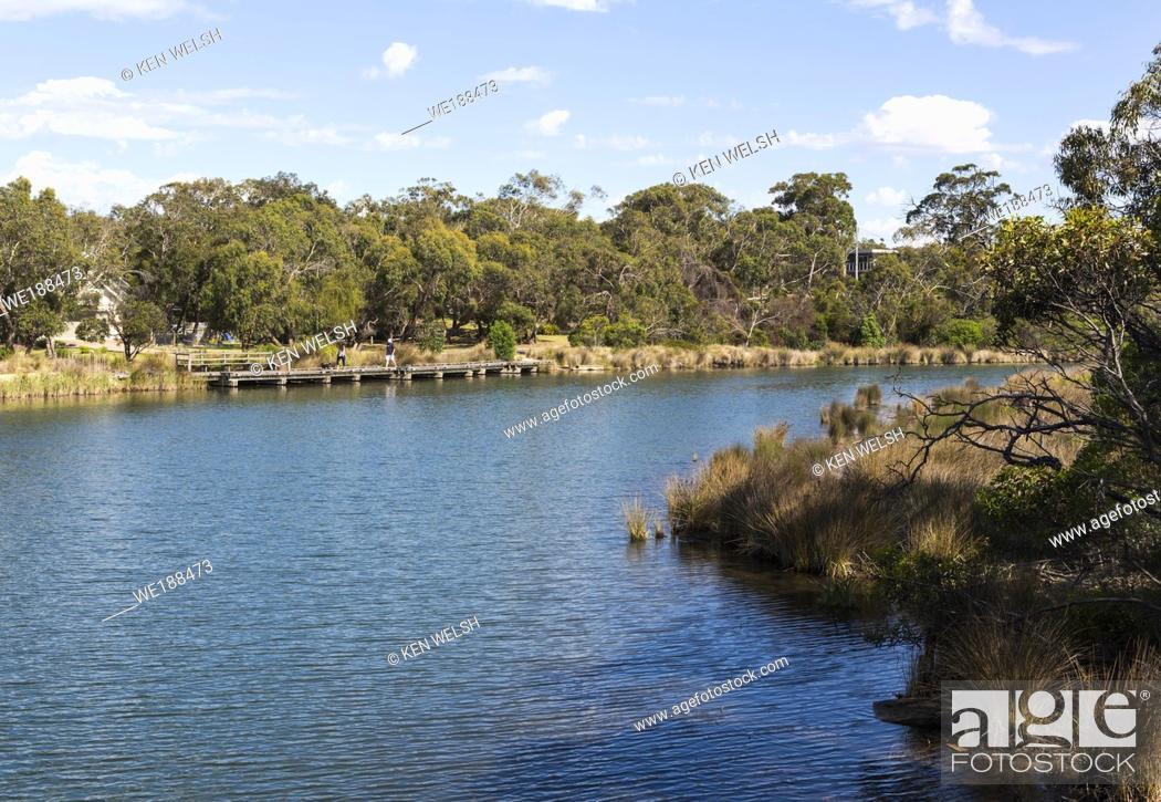 Photo de stock: Anglesea River, Anglesea, Great Ocean Road, Victoria, Australia.