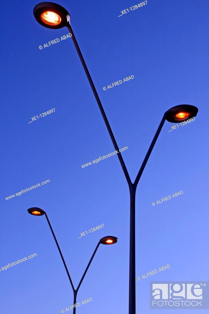 Stock Photo: streetlight, Sant Feliu de Llobregat, Catalonia, Spain.