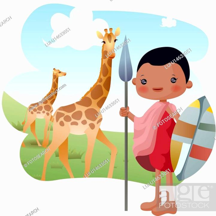 Stock Photo: national wildlife refuge, sightseeing, Kenya, Africa, tourist attractions, tourism.