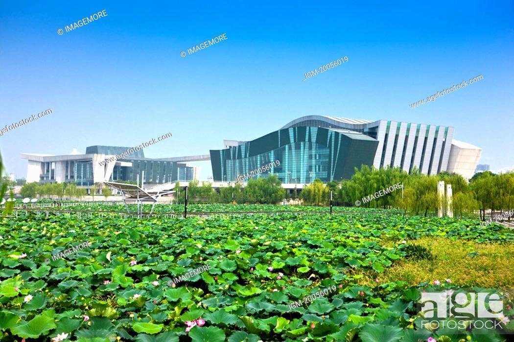Stock Photo: China, Hubei Province, Wuhan, Hanyang, Concert Hall.