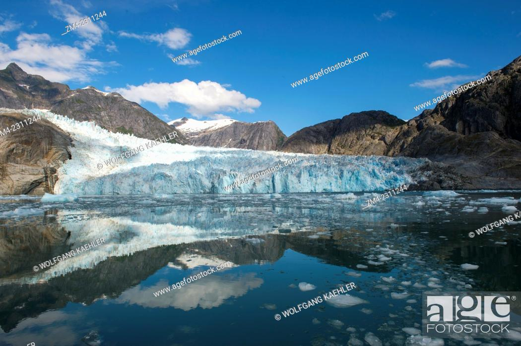 Stock Photo: View of the glacier face of the LeConte Glacier, a tidal glacier in LeConte Bay, Tongass National Forest, Southeast Alaska, USA.