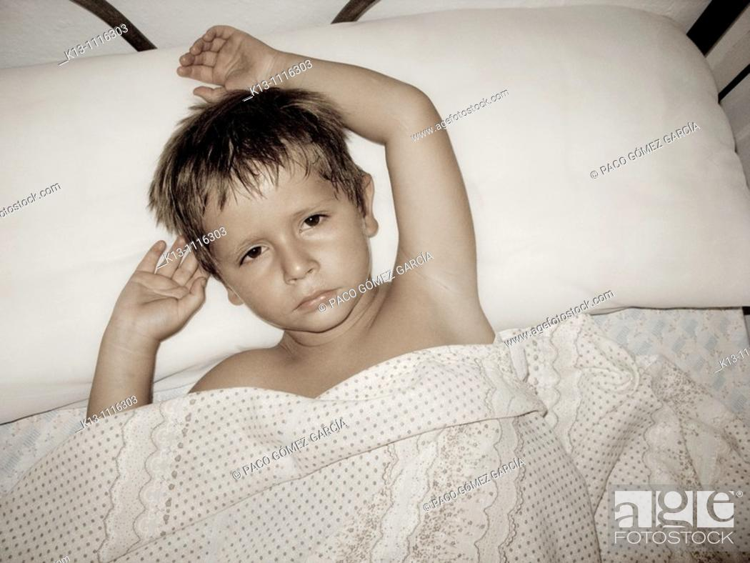 Stock Photo: Boy portrait.