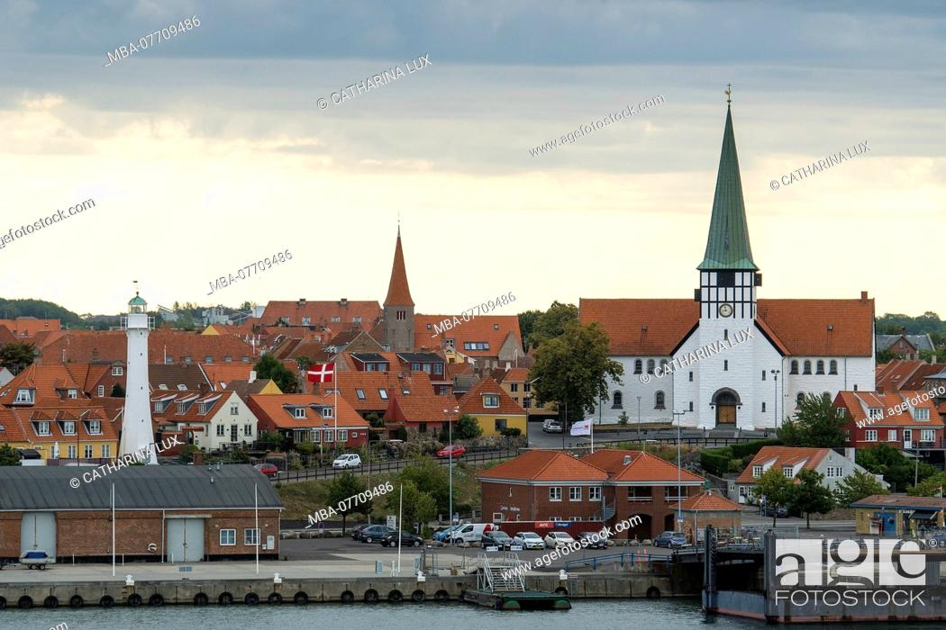 Stock Photo: Bornholm, Rønne, old town, view from the ferry.