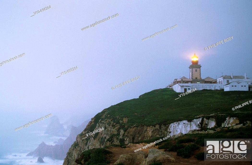 Stock Photo: Lighthouse, Cabo da Roca, Portugal.