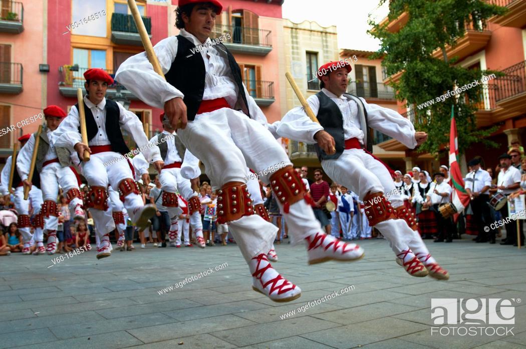"Stock Photo: -Traditional ""Vascos"" Dancers- Spain."