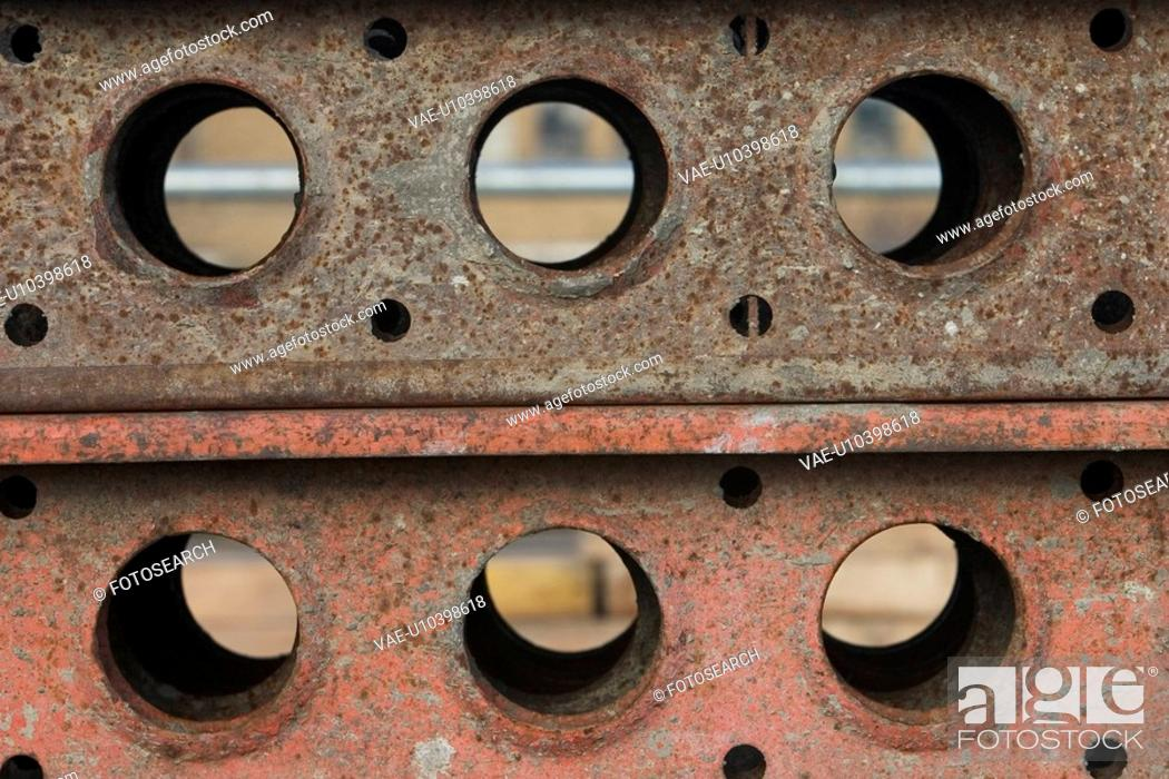 Stock Photo: beams, material, hardware, rigid, decay, metal.