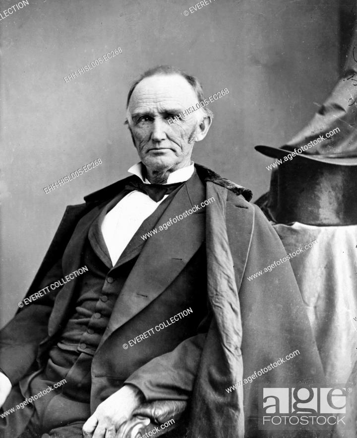 Stock Photo: Montgomery Blair (1813-1883) was among the founders of the Republican Party in the 1850's and campaigned for Lincoln in 1860.