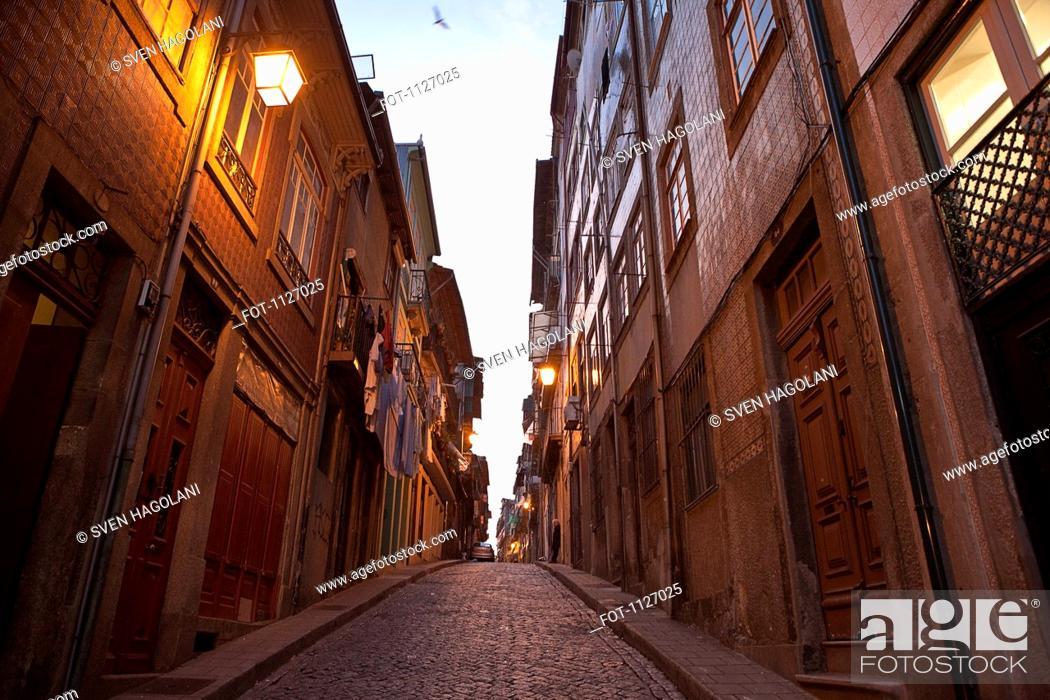 Stock Photo: Street in Oporto Porto, Portugal.