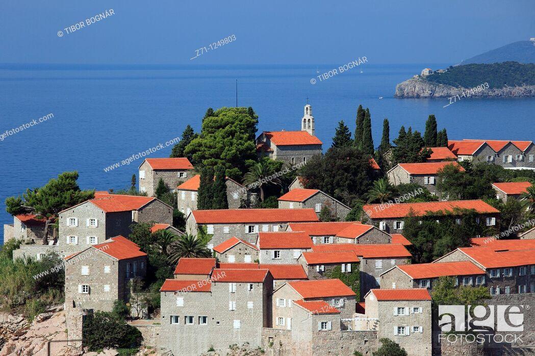 Stock Photo: Montenegro, Sveti Stefan, Aman Resort, luxury holiday,.