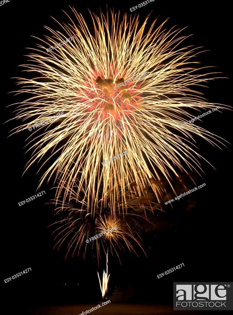 Stock Photo: Fireworks Display event.