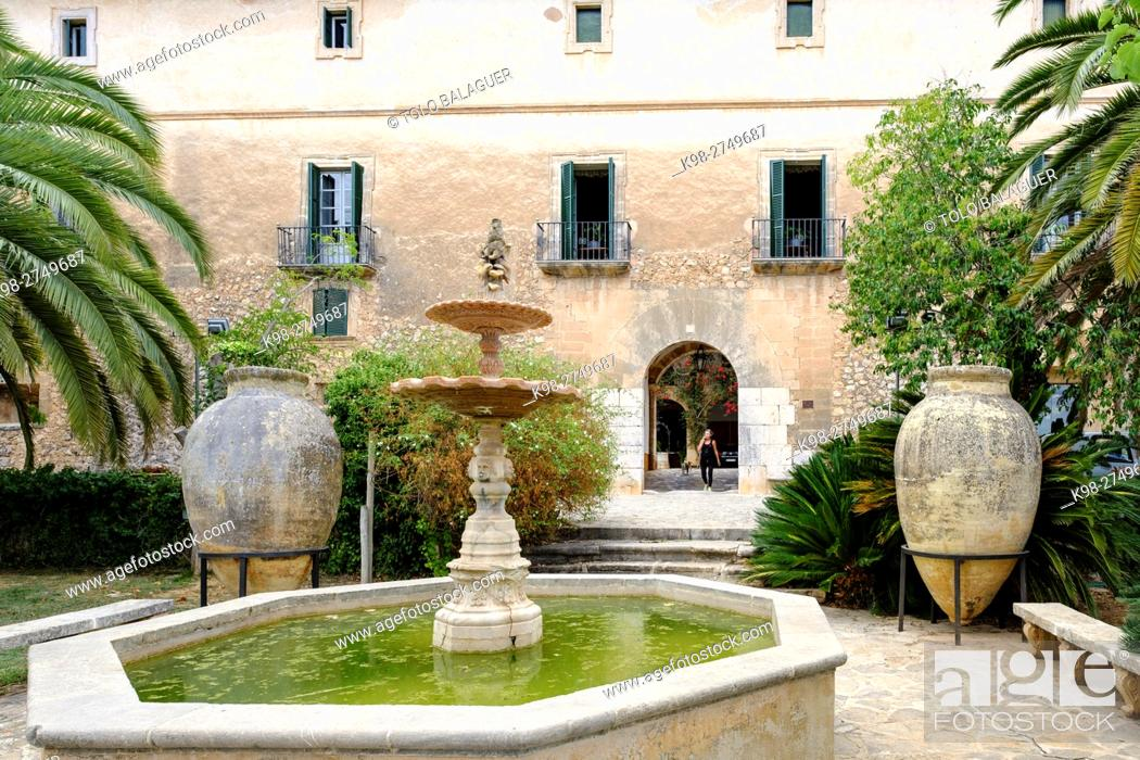 Stock Photo: finca Sarria,, Establiments, Majorca, Balearic Islands, Spain.