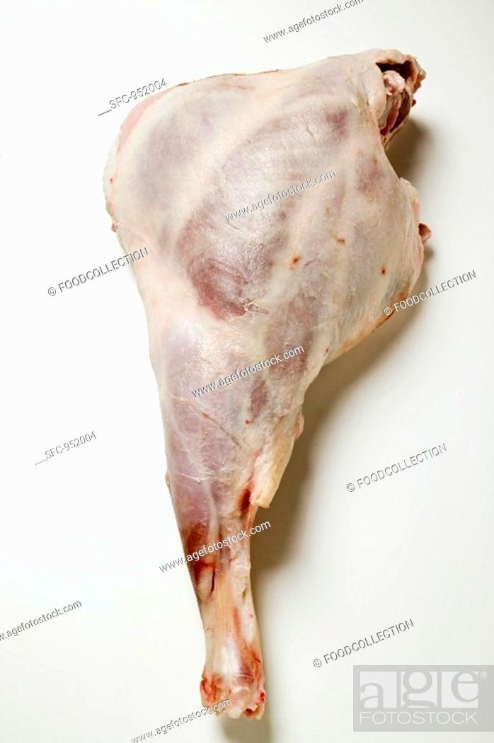 Stock Photo: Leg of lamb.