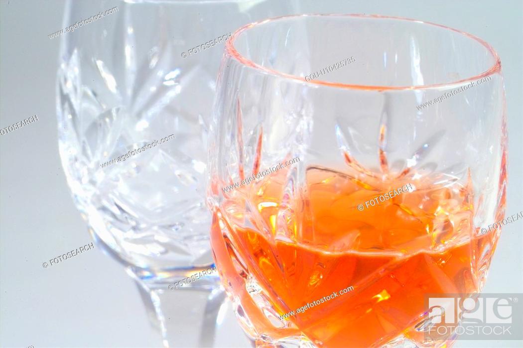 Stock Photo: beverage, glass, alcoholic liquor, cuisine, food, alcoholic drink, wineglass.
