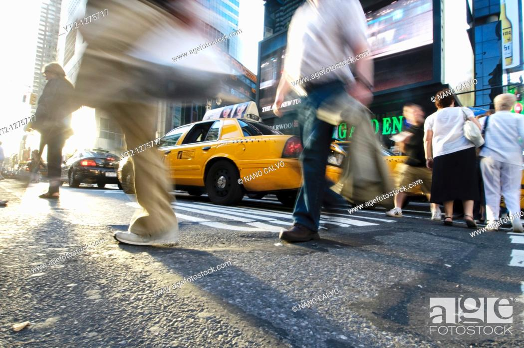 Stock Photo: Life & Lights in Times Square, New York City, New York State, USA.