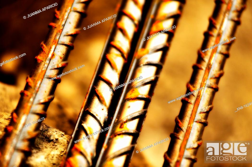 Stock Photo: Photographed rebar rods near.