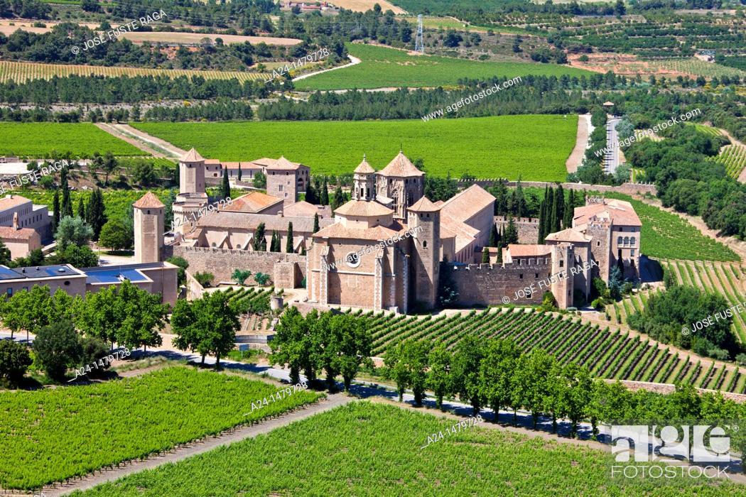 Photo de stock: Spain, spring 2011, Tarragona Province, Poblet Monastery W H.