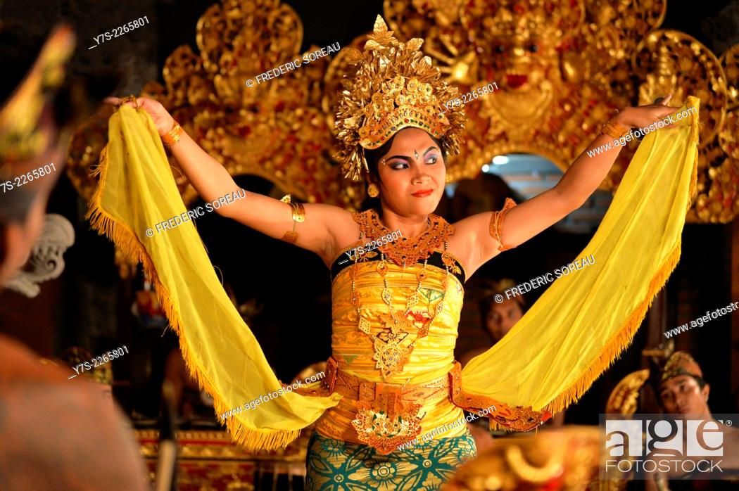 Balineses Dancers Dancing The Legong In Ubud Bali Indonesia South