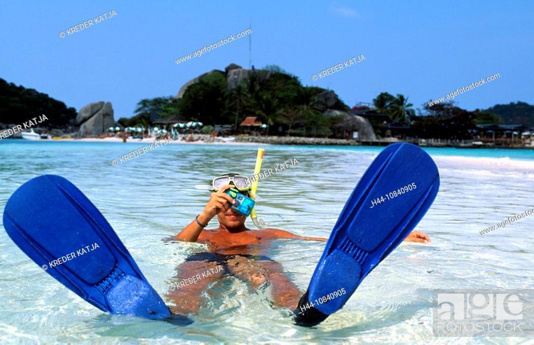 Stock Photo: Thailand, Asia, Ko Tao, travel, Asia, Southeast Asia, Southern Thailand, Asia, Ko Samui, Koh Samui, Koh Tao, beach, ma.