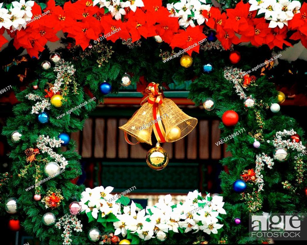 Stock Photo: seasons, christmas, bell, tree, decoration, film.