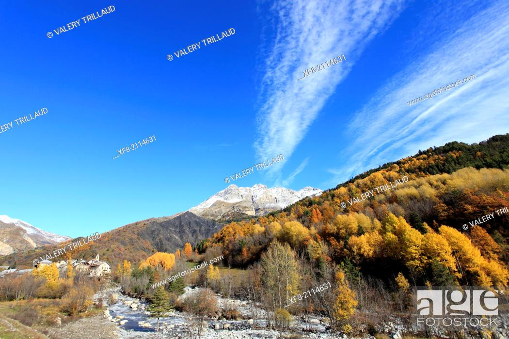 Stock Photo: Haute Vallée du Var, Parc National du Mercantour, Alpes-Maritimes, Provence-Alpes-Côte d'Azur, France.
