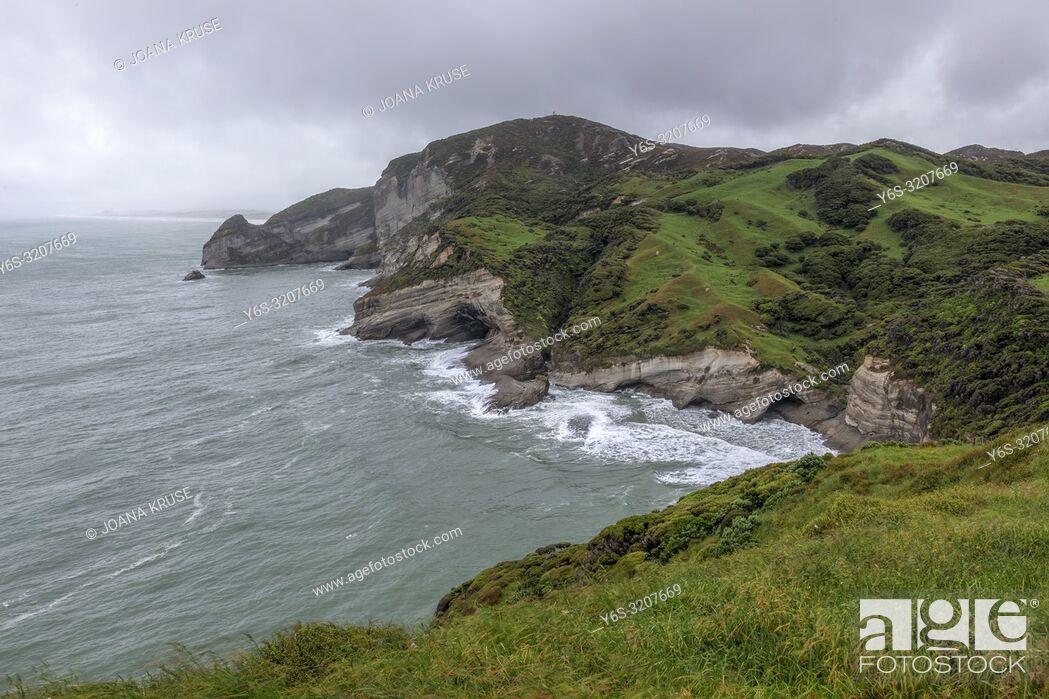 Stock Photo: Cape Farewell, Puponga, South Island, New Zealand.