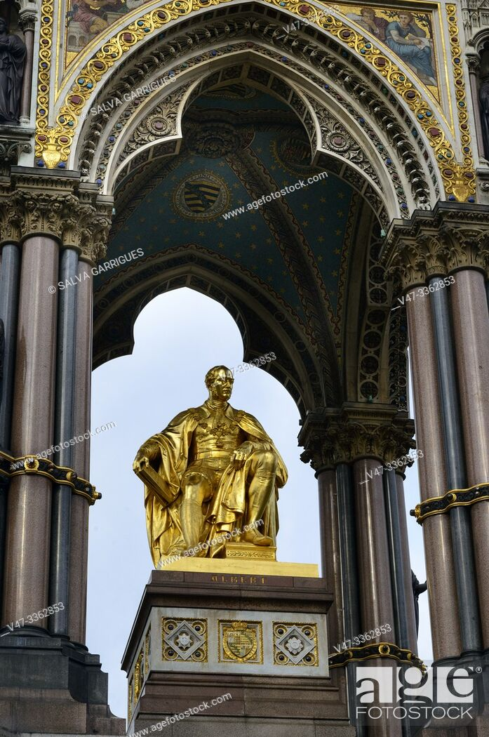 Stock Photo: Albert Memorial, Kensington Gardens, London.