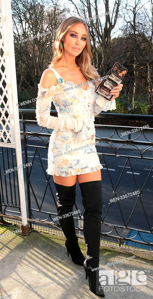 bbfee16410b Stock Photo - Lauren Pope at the launch of the SOSU By SJ Lauren Pope Faux  Mink Lash Collection at the Cliff Townhouse ,Dublin Business woman Suzanne  ...