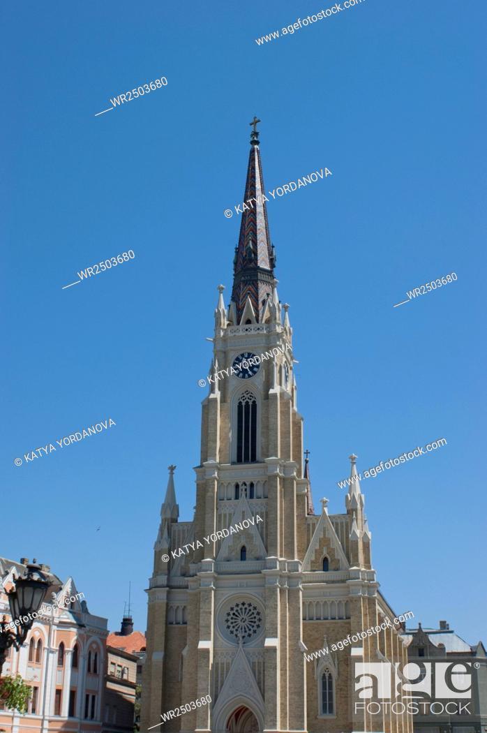 Stock Photo: Katolic chuch, Novi Sad, Serbija.