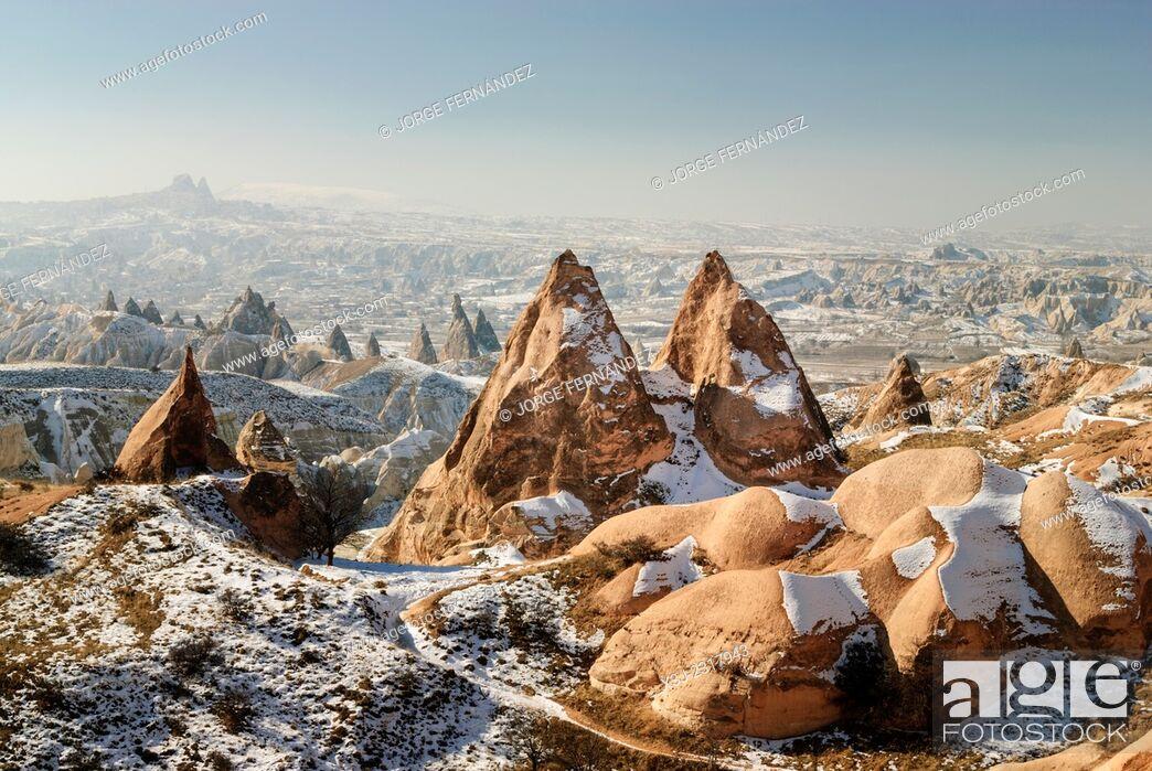 Stock Photo: Landscape of Capadocia, Turkey, Asia.