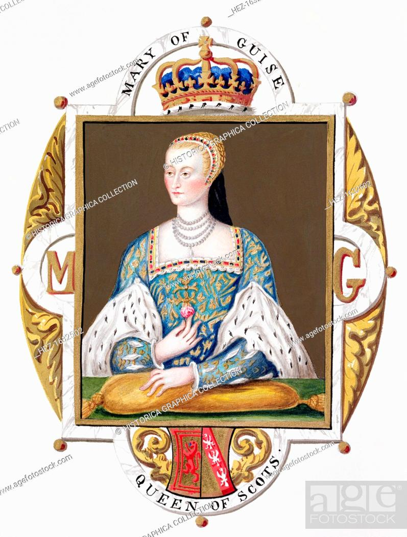 Mary Of Guise Queen Consort Of James V Of Scotland 1825 Stock