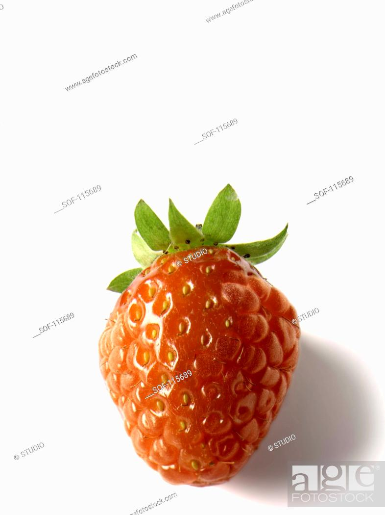 Stock Photo: Transgenic strawberry-raspberry.