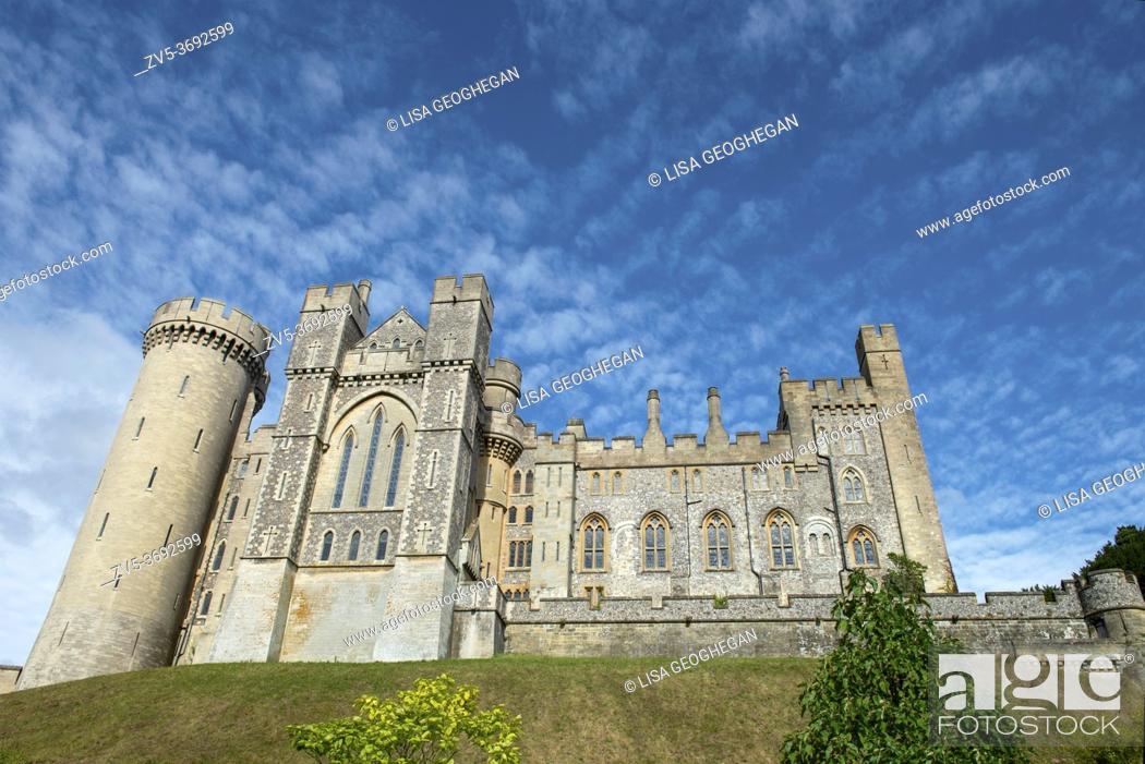 Stock Photo: Arundel Castle, Arundel, West Sussex, England, Uk.