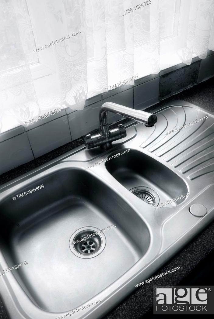 Stock Photo: Kitchen sink.