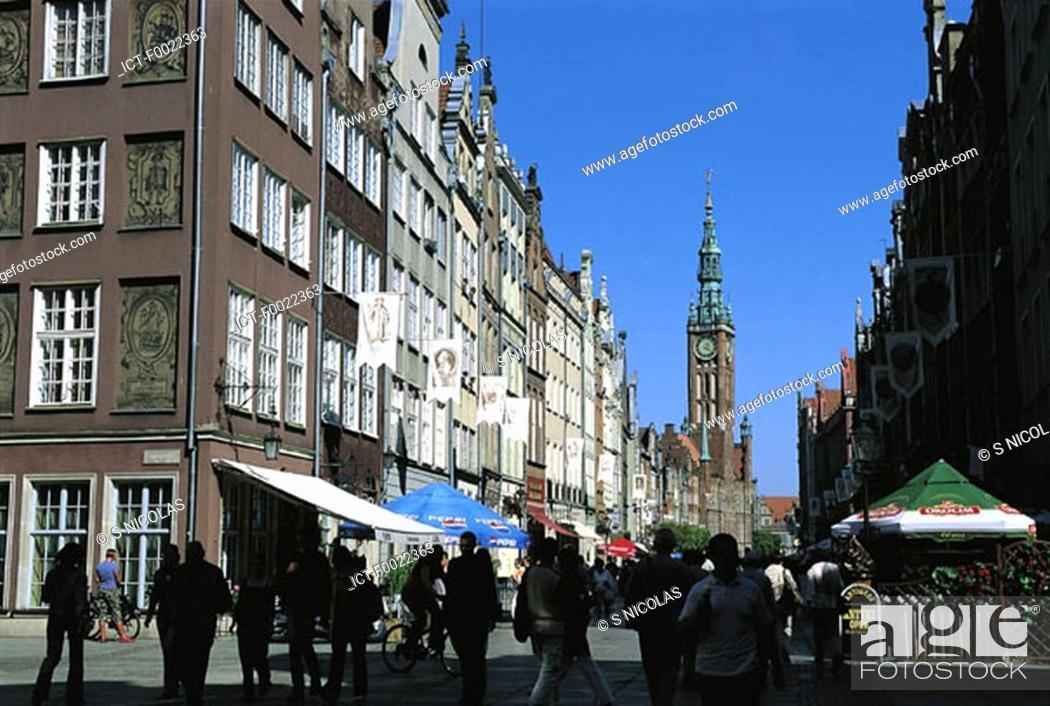 Stock Photo: Poland, Gdansk, downtown.