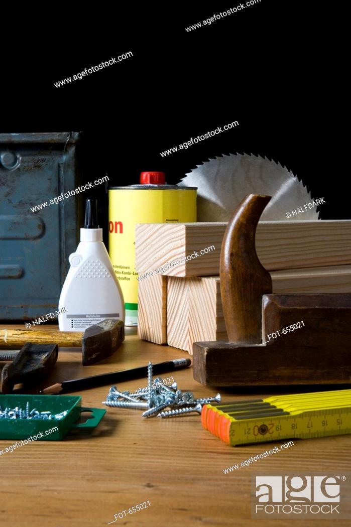 Stock Photo: Carpentry equipment.
