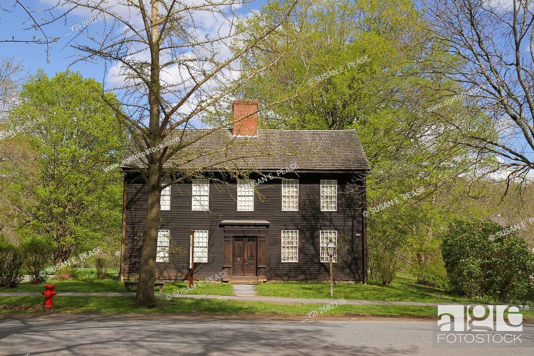 Stock Photo: Allen House, HIstoric Deerfield, Old Deerfield, Massachusetts, United States.