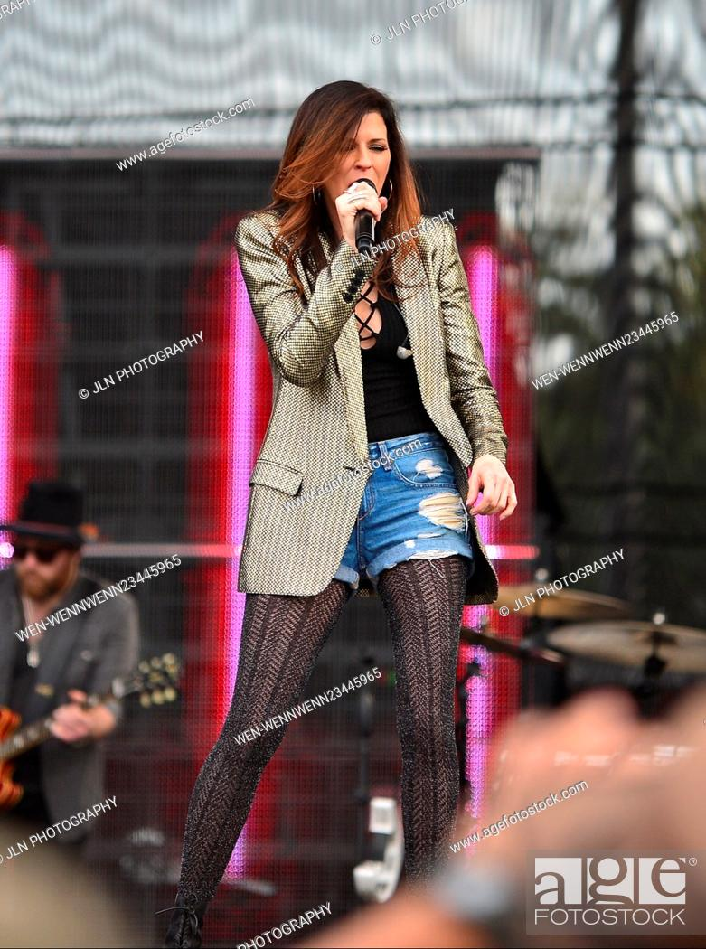 Stock Photo: 1st annual Kiss 99.9 Chilli Cookoff at CB Smith Park Featuring: Karen Fairchil of Little Big Town Where: PEMBROKE PINES, Florida.