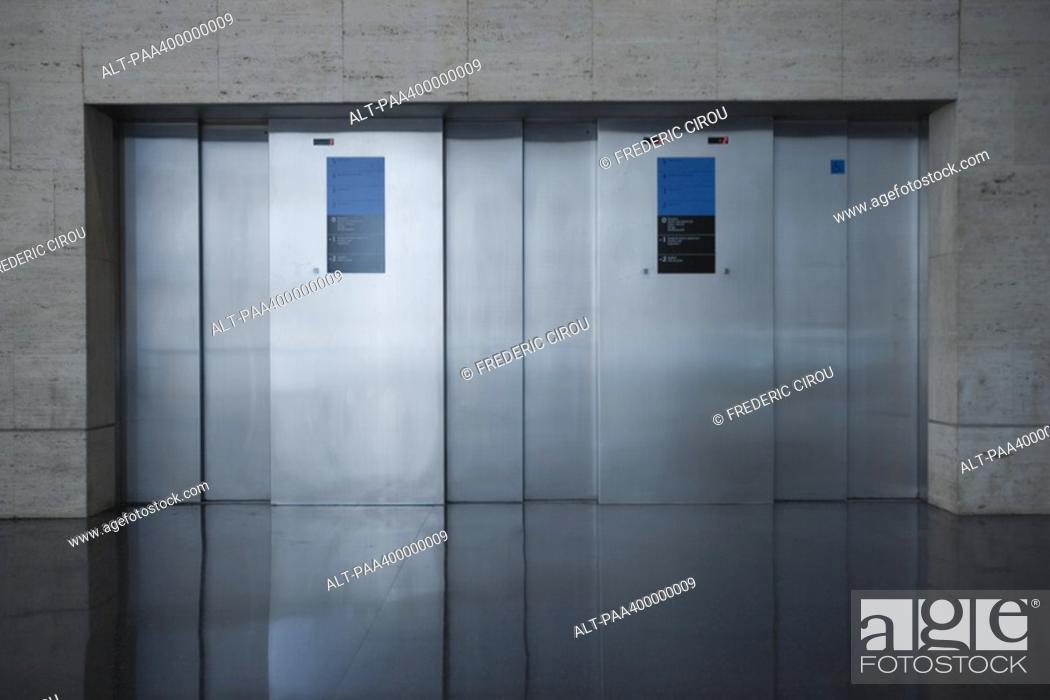 Stock Photo: Elevators.