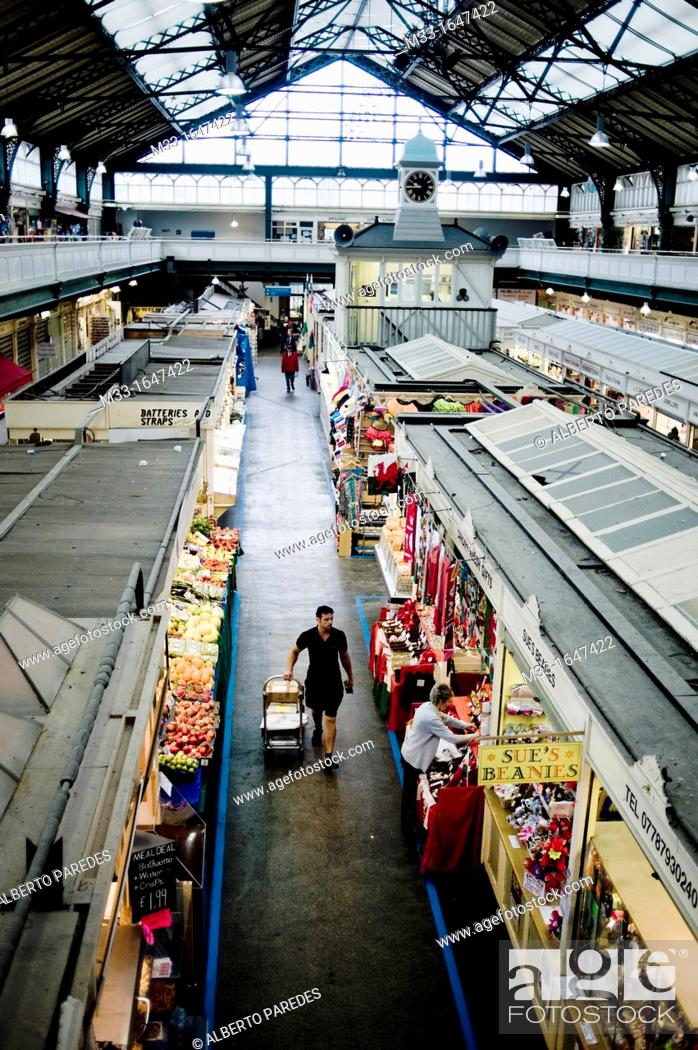 Stock Photo: Mercado central  CARDIFF, Gales  Central Market  Wales.