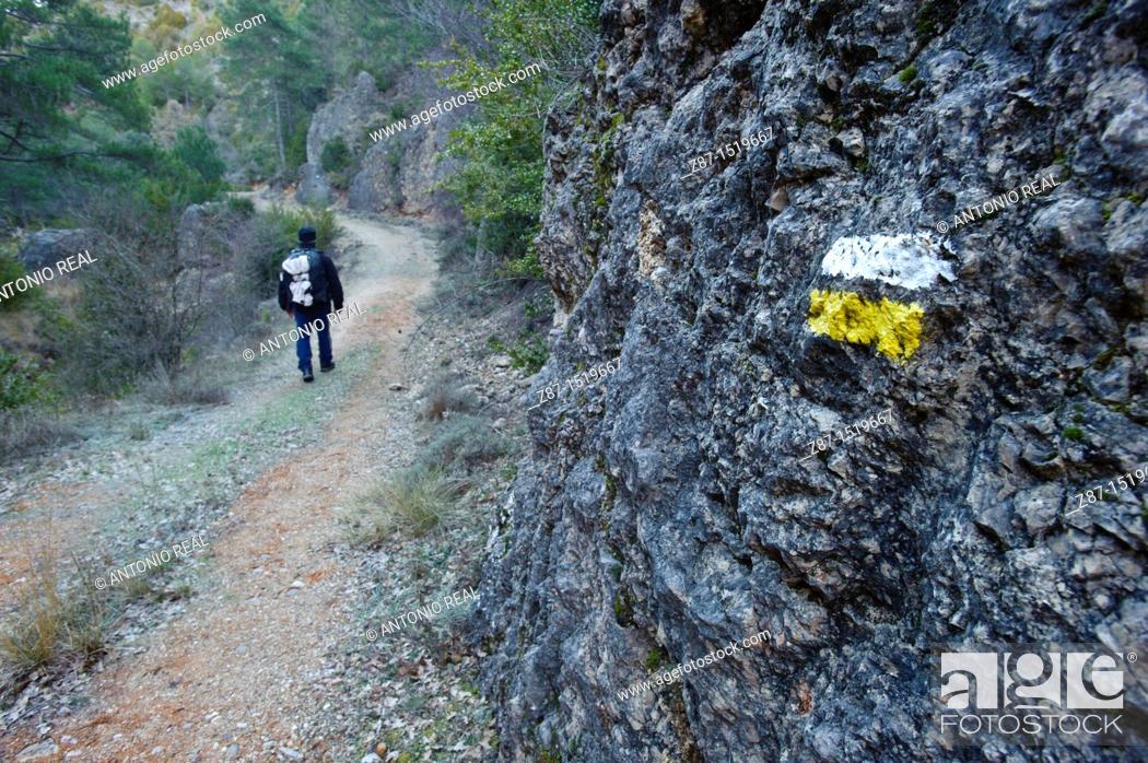 Stock Photo: Hoz del rio Trabaque  Parque Natural de la Serranía de Cuenca  Cuenca.