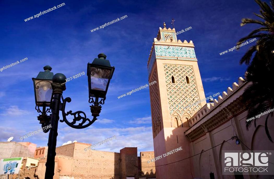 Stock Photo: Morocco Marrakesh The Kasbah Mosque (Mosquée Moulay el-Yazid).
