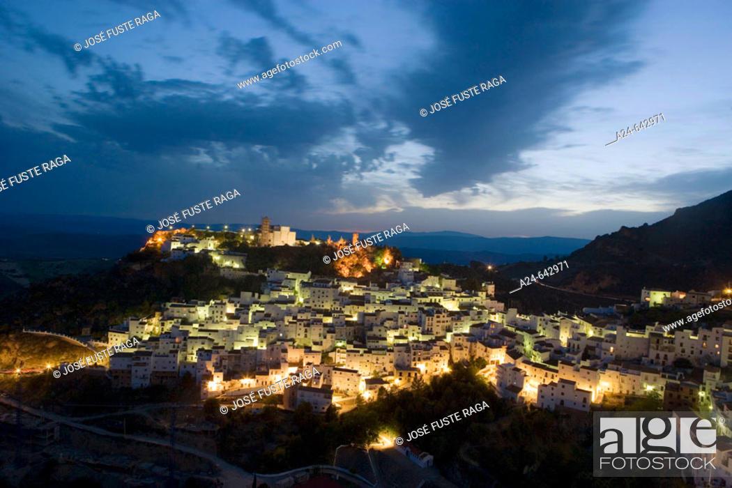 Stock Photo: Casares. Malaga Province. Costa del Sol. Andalucia. Spain. May 2007.