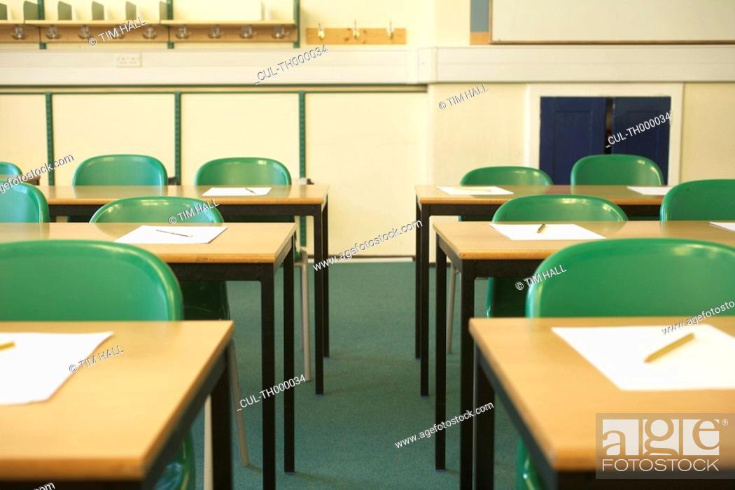 Stock Photo: Empty classroom.