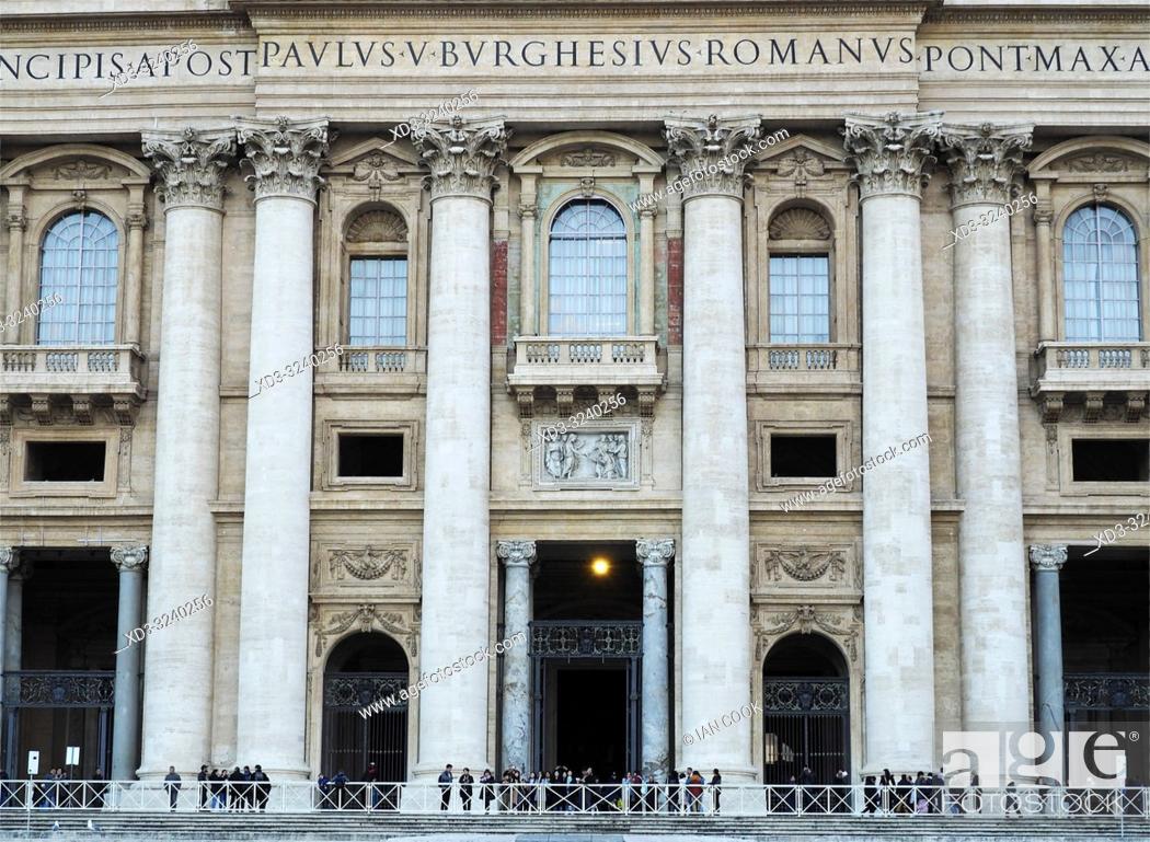 Stock Photo: Saint Peter's Basilica, Rome, Italy.