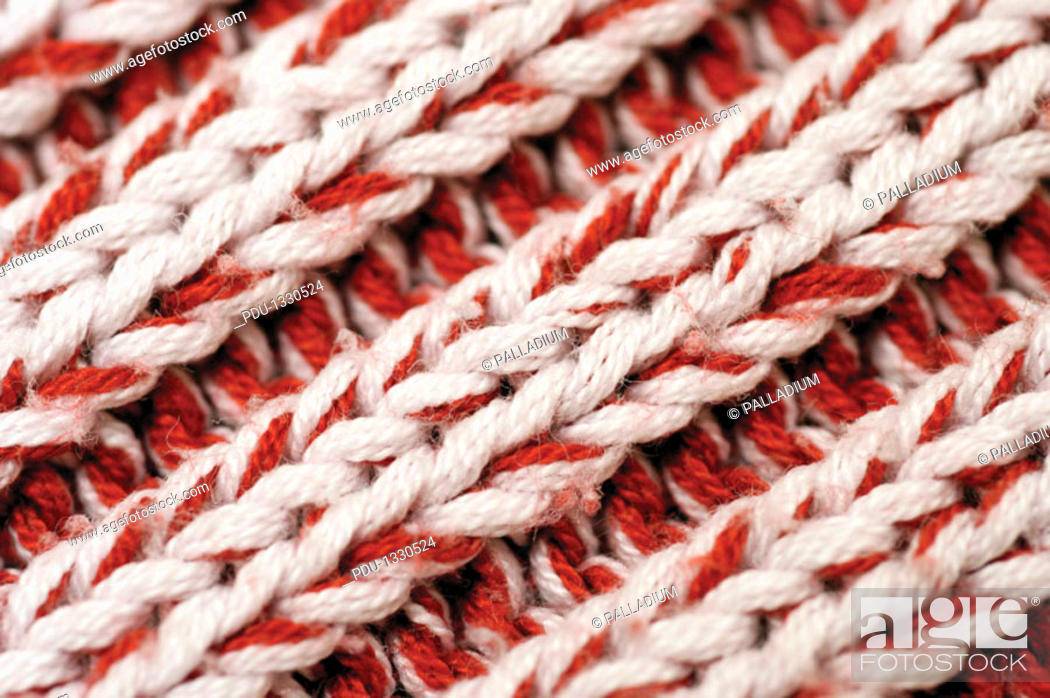Stock Photo: Close-up of cable stitch.