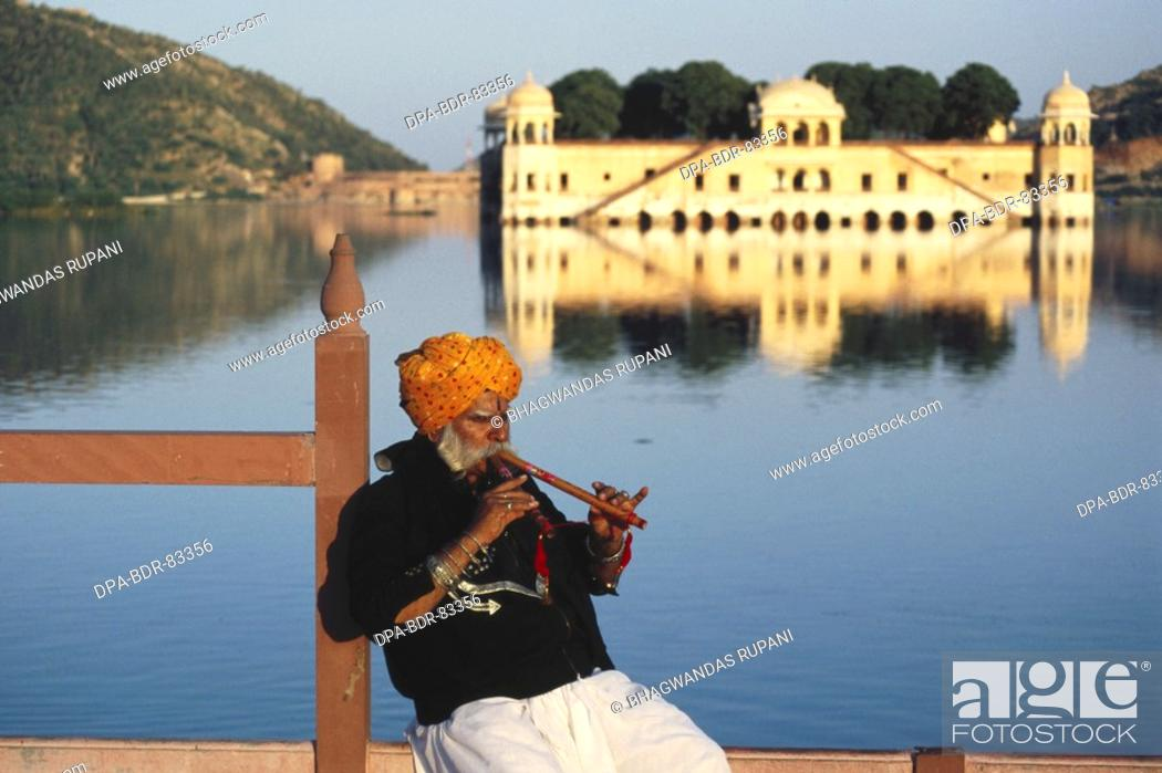 Stock Photo: folk musician , rajasthan , india , MR  NO  657.