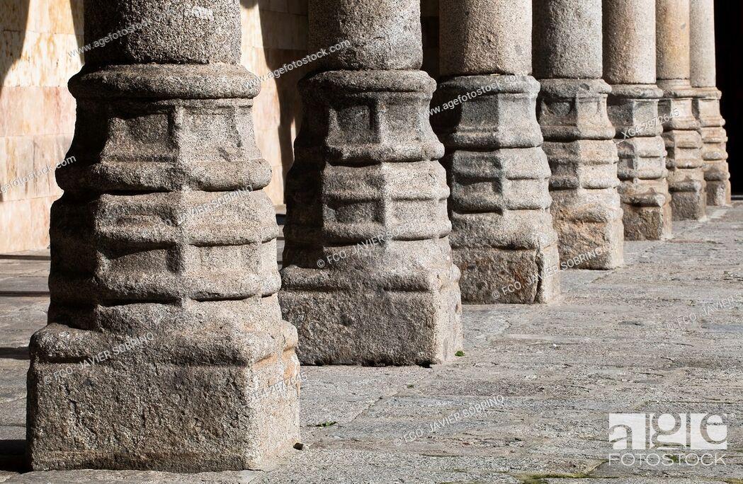 Stock Photo: Patio de las Escuelas Menores. Universidad de Salamanca. Castilla-León. España. Europa.