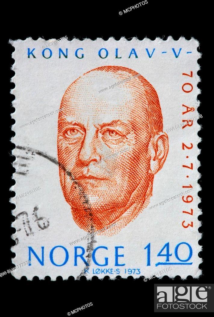 Stock Photo Olav V King Of Norway 1957 1991 Postage Stamp