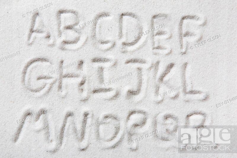 Stock Photo: Sand Alphabet.